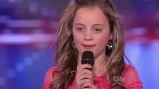 <日本語字幕>未来のテイラー・スウィフト!?可愛いすぎる11歳天才少女の歌声に観客全員がスタンディングオーベーション!! テイラースウィフト 動画 29
