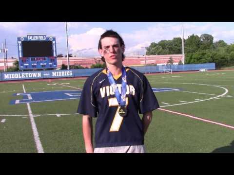 Tanner Hay, Victory High School Varsity Lacrosse Defenseman, NYSPHSAA Finals 06/11/16