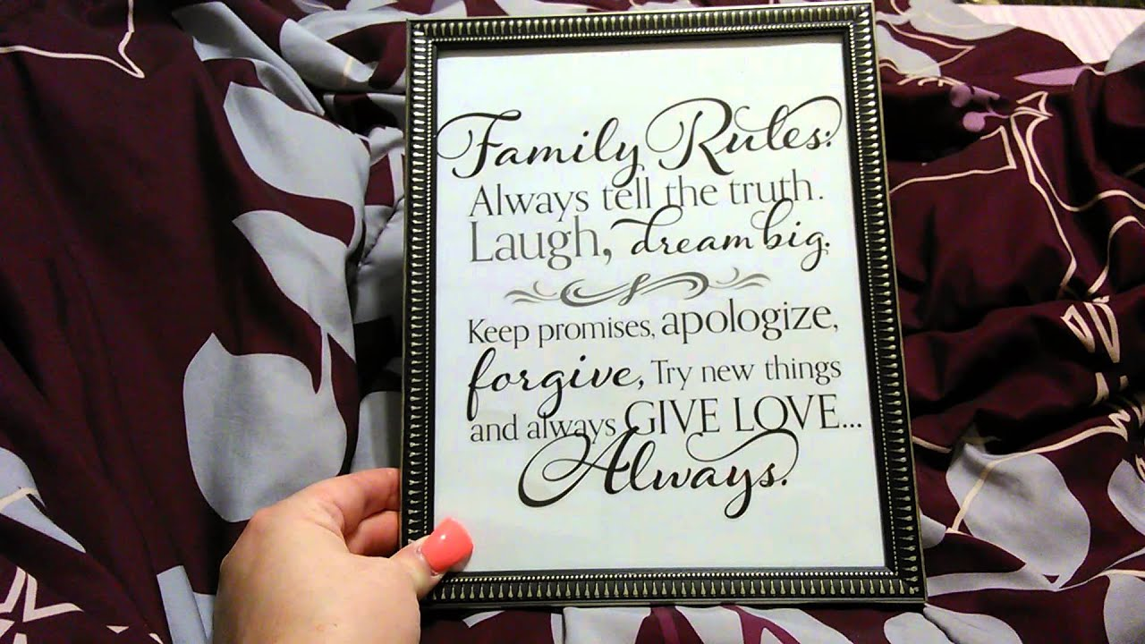 Diy Dollartree Frame/Wall Decal Project :) - YouTube