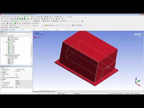 ANSYS Mechanical Thermal Analysis Demonstration of Hazardous Waste Enclosure Subjected to Fire