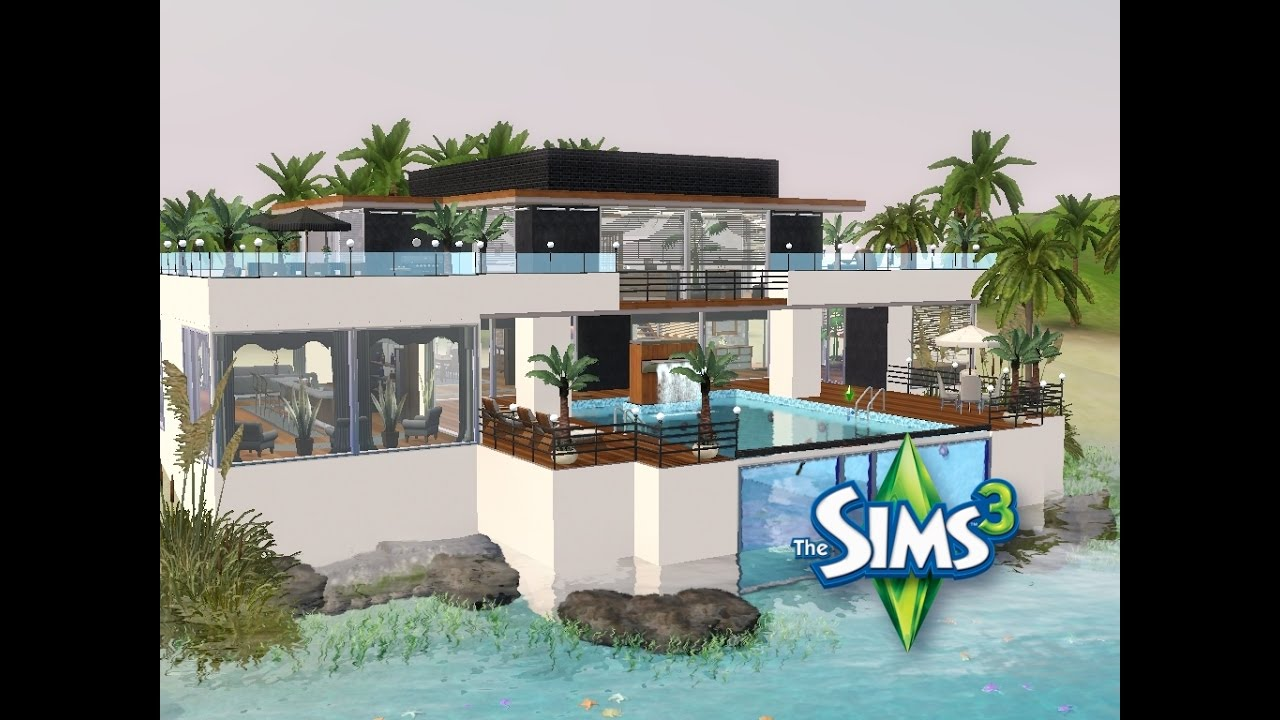 sims 3 haus bauen let 39 s build modernes haus im taucherwinkel youtube. Black Bedroom Furniture Sets. Home Design Ideas
