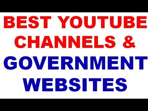 BEST YOUTUBE CHANNELS & government websites UPSC IAS IPS IFS STATE PCS SSC SI EXAM PREPARATION
