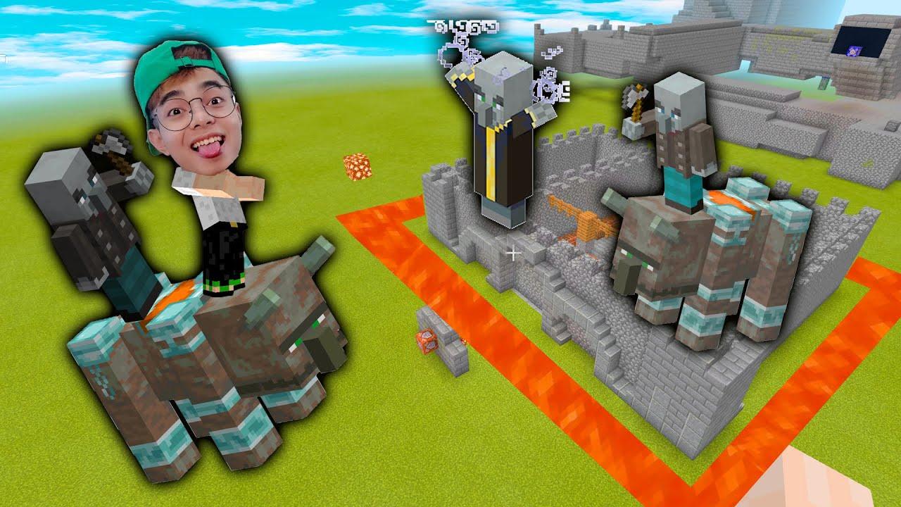 ThắnG Tê Tê Đột Nhập Hang Động của Bọn Cướp Dân Làng Trong Minecraft