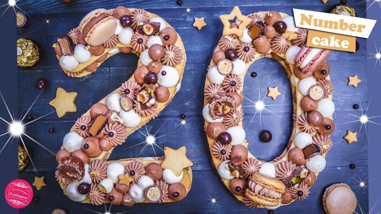 GATEAU DU NOUVEL AN 2020  NUMBER CAKE 3 CHOCOLATS