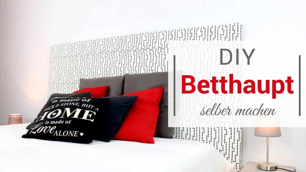 diy betthaupt selber machen youtube. Black Bedroom Furniture Sets. Home Design Ideas
