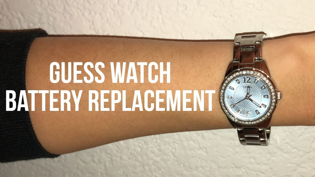 a8fa437c5 Guess Watch Battery Replacement Video - YouTube