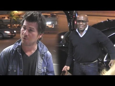 L.A. Reid And Jason Hervey Arrive At LAX