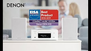 Denon N10 dàn mini công nghệ: Airplay 2 + Bluetooth AptX + CD + USB DSD + Wifi + Quang In