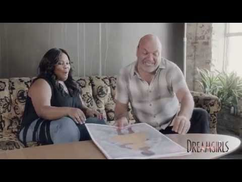 Amber Riley and director Casey Nicholaw discussing Dreamgirls