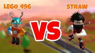 STRAW vs LEGO_496 - 1vs1 - Roblox Jailbreak