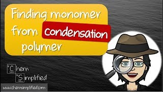 Monomer from polymer | Condensation polymerization | Easy way – Dr K