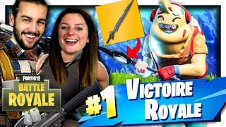 TOP 1 WITH THE LAME OF THE INFINI - NEW SKIN! FORTNITE COMBAT OF ÉPÉE DUO EN