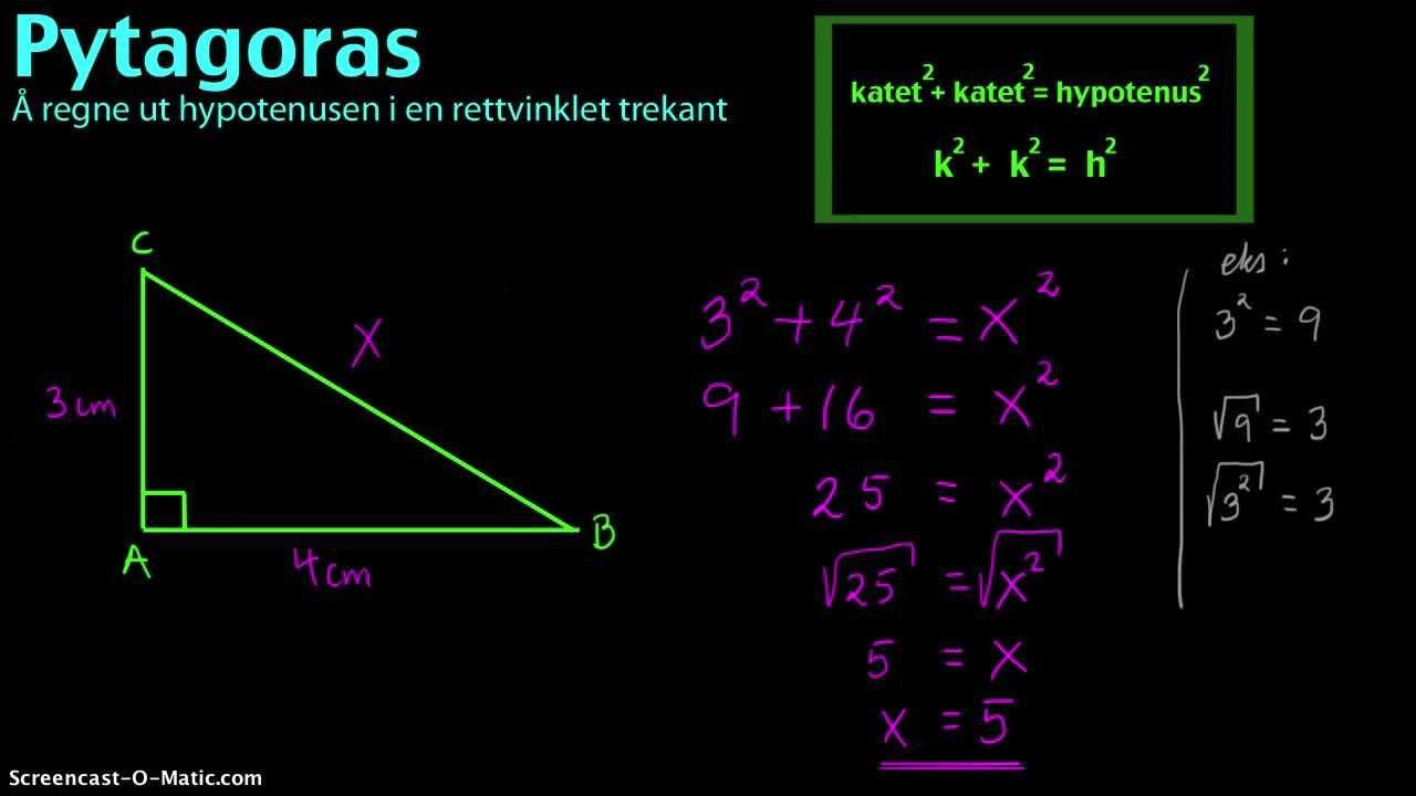 trekant hypotenusen
