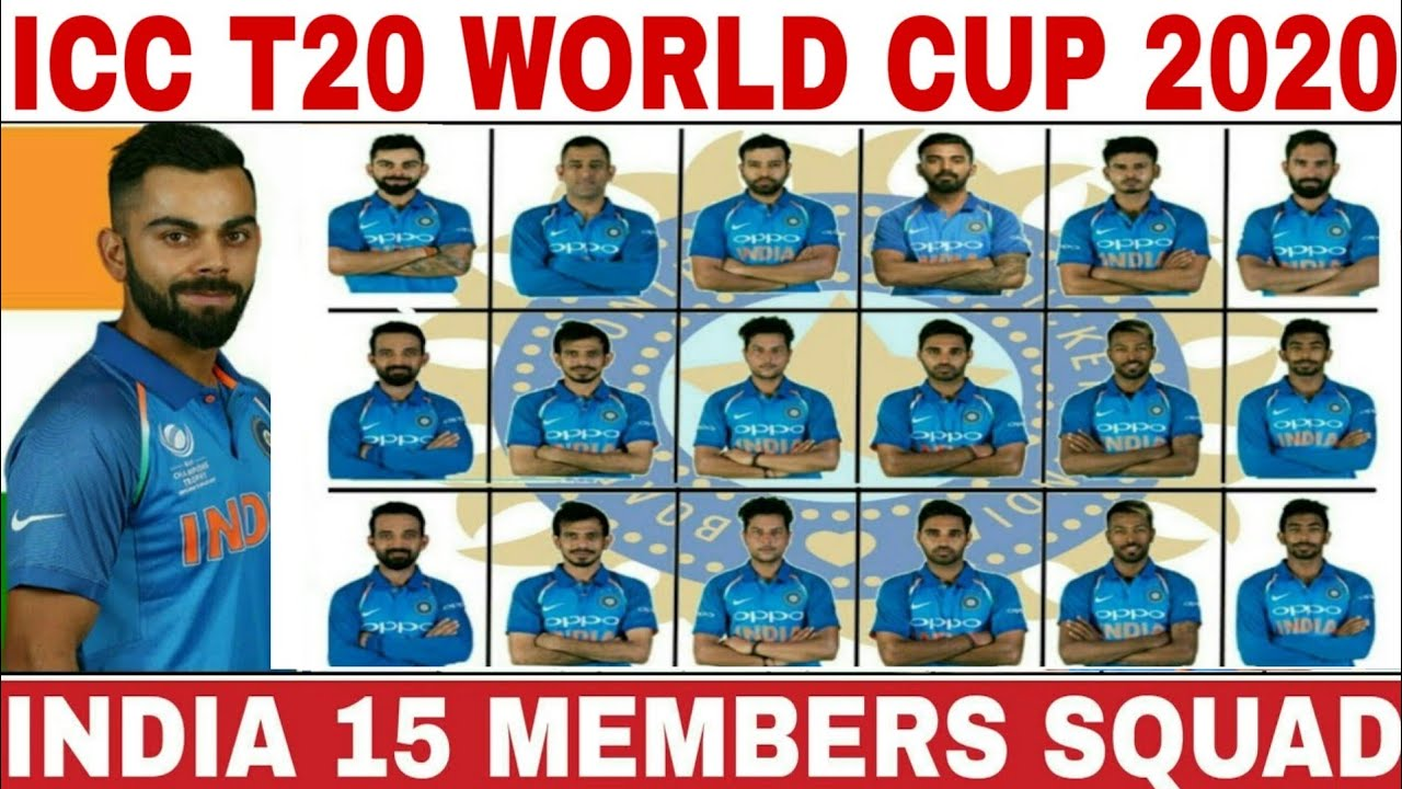 World Cup 2020 Team.Icc T20 World Cup 2020 India Team Squad India 15 Members T20 Squad For World Cup 2020 Ind Wc 2020