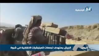 الجيش اليمني يستهدف تجمعات للميليشيات الانقلابية في شبوة