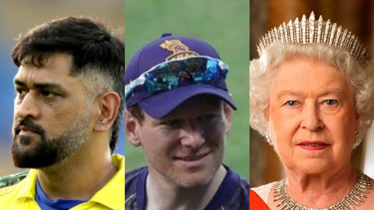 IPL FINAL INTERVIEW #dhoni #eonmorgan #queenelizabeth  KKR VS CSK