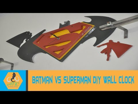Batman vs Superman DIY wall clock