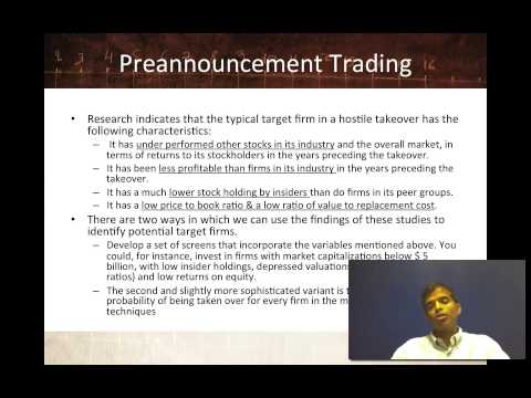 Session 26: Information Trading - Public information, other than earnings