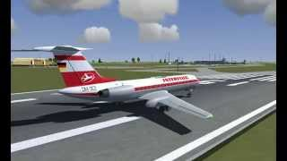 FlightGear | Tupolev Tu-134 landing in Cherkasy International Airport (UKKE)
