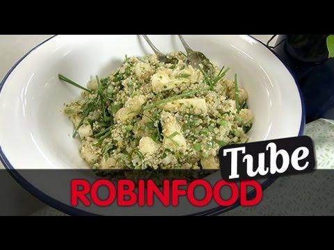 "ROBINFOOD / Quinoa con espárragos blancos + Atún en tomate ""patontos"""