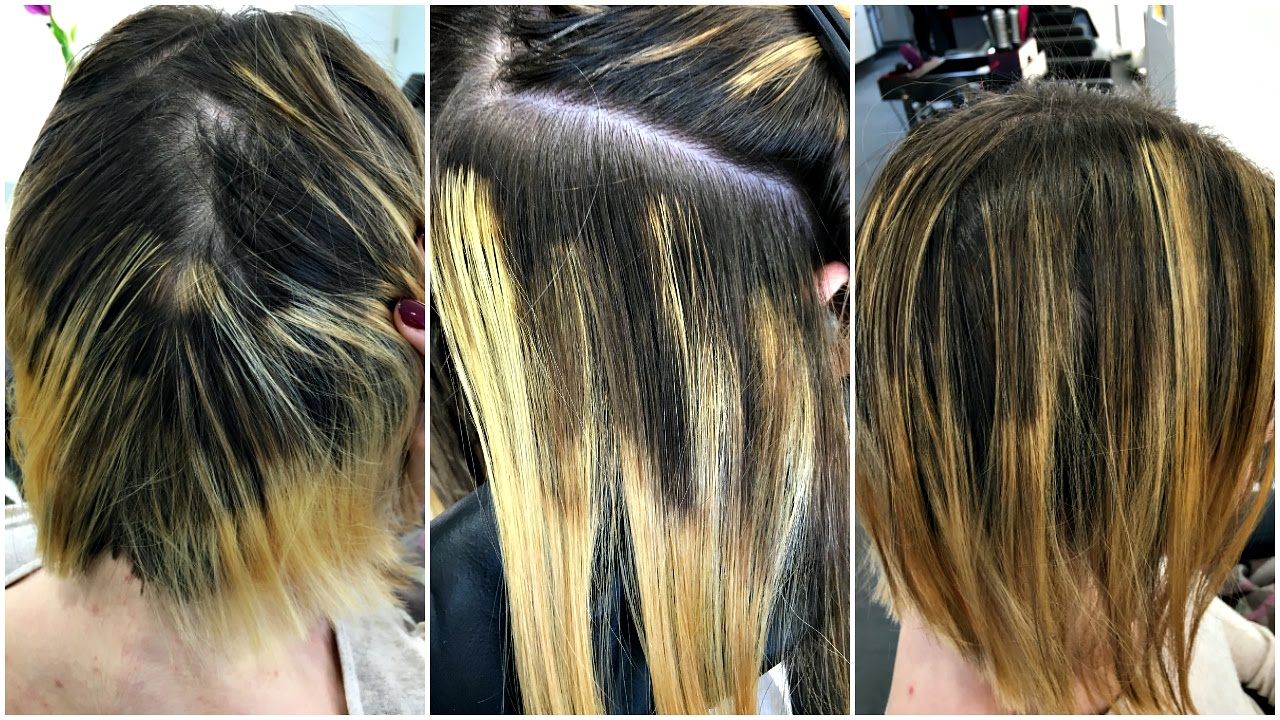 "Balayage Technik Balayage Hair Fail Extreme | Vom ""profi""?! 😱 - Youtube"