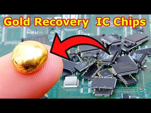 Смотреть How Gold Recovery From IC Chips Remove from the electronic circuit board. онлайн