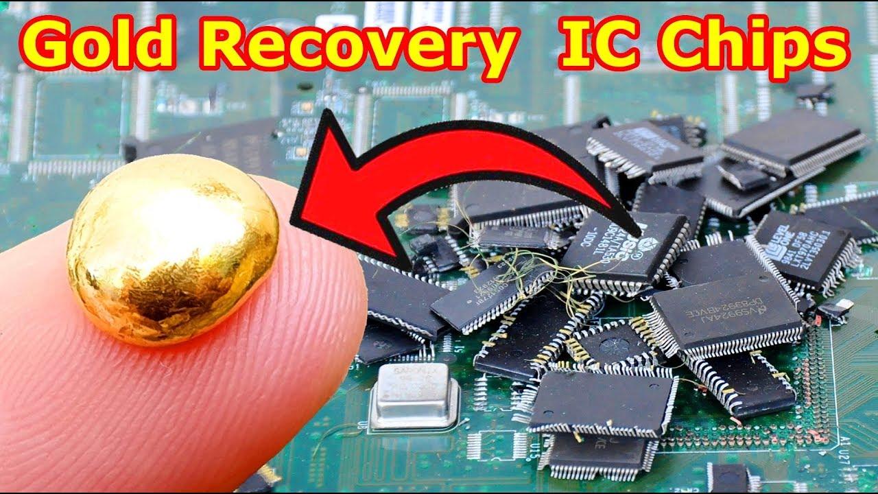 Como a recuperação de ouro dos chips IC Retire da placa de circuito eletrônico.