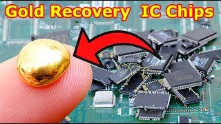 How Gold Recovery From IC Chips Remove from the electronic circuit board.