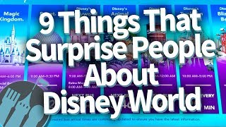 9 Things That Surprise People in Disney World!