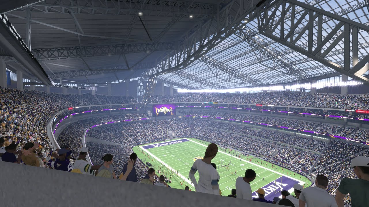 U S Bank Stadium Is In Madden Nfl 16 Youtube