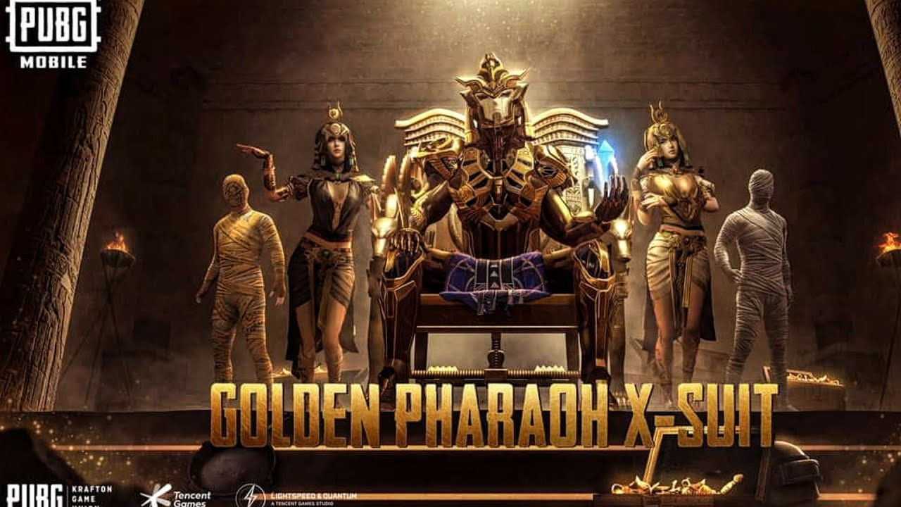 The golden pharaoh X- Suit upgraded to Max level   | €20.000 UC | PUBG MOBILE