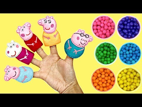 Thumbnail: Learn Colors with Peppa Pig Finger Family Nursery Rhyme Song / TUYC JR.