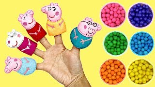 Learn Colors with Peppa Pig Finger Family Song with Gumball Surprises