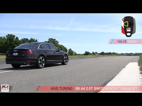 awe tuning audi b9 a4 a5 switchpath exhaust youtube. Black Bedroom Furniture Sets. Home Design Ideas