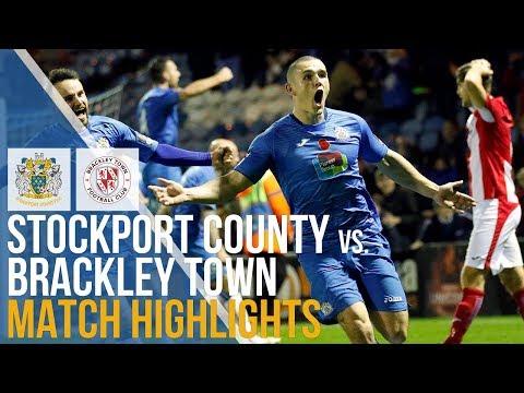 Stockport County Vs Brackley Town - Match Highlights - 17.11.2018