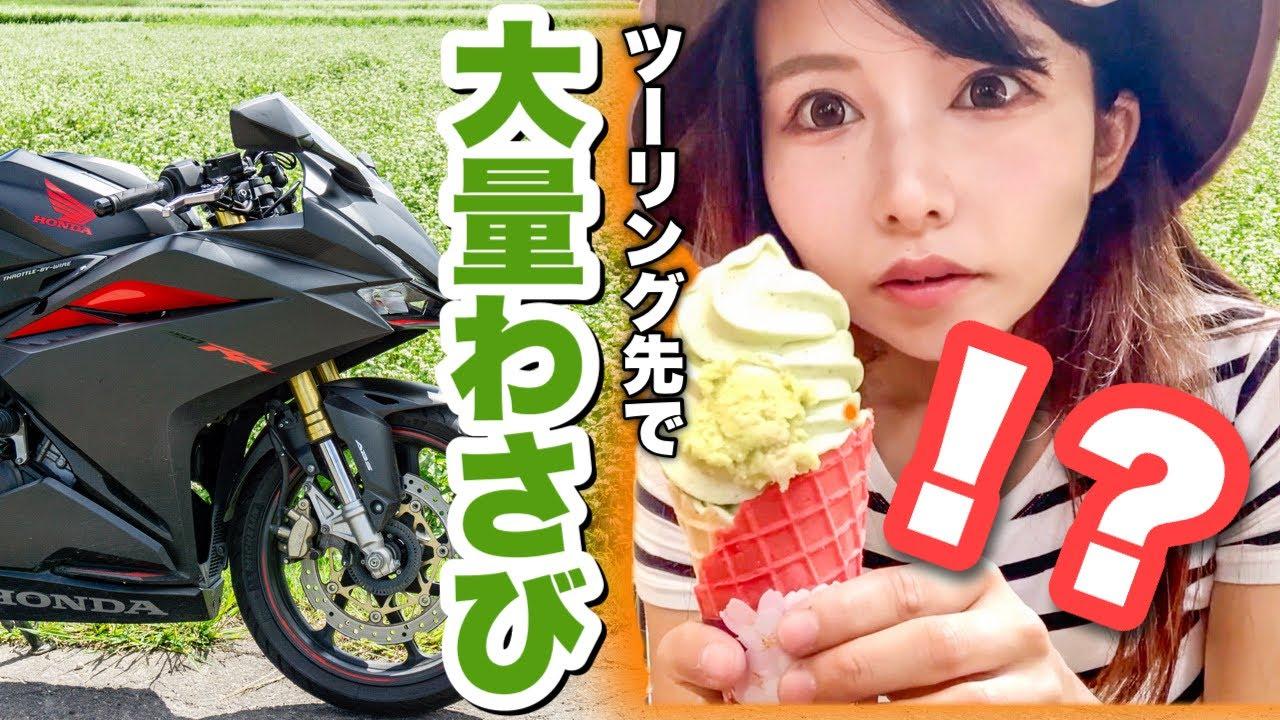 【激辛ツーリング】日本一広いわさび農場で地獄の激ツンソフトを食すバイク女子【日本一周モトブログ】