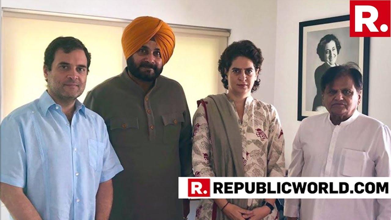 Navjot Sidhu Meets Rahul Gandhi & Priyanka Vadra, Makes