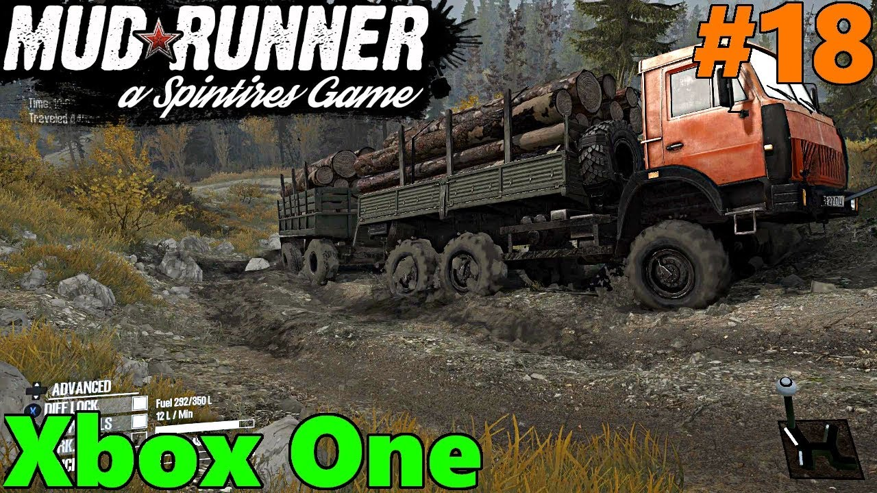 spintires mud runner xbox one let 39 s play part 18 muddy. Black Bedroom Furniture Sets. Home Design Ideas