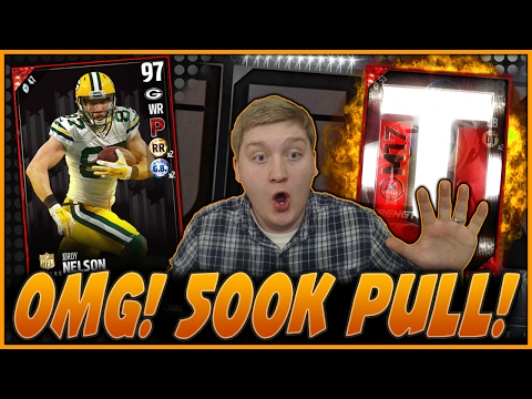 ZOMG! NO WAY!! 500K PULL!!!! | 97 JORDY NELSON HONORS!! | MUT 17 PACK OPENING