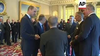 Prince William meets with British divers who helped rescue boys trapped in Thailand cave