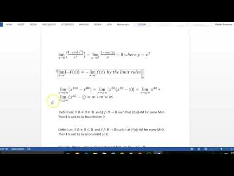 19. Removable Singularities and Infinite Limits