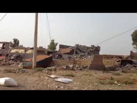 Shia militia trail of destruction near Tuz Khormato, Iraq Oct 2014