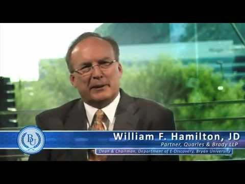Bryan University - What is e-Discovery by William F. Hamilton