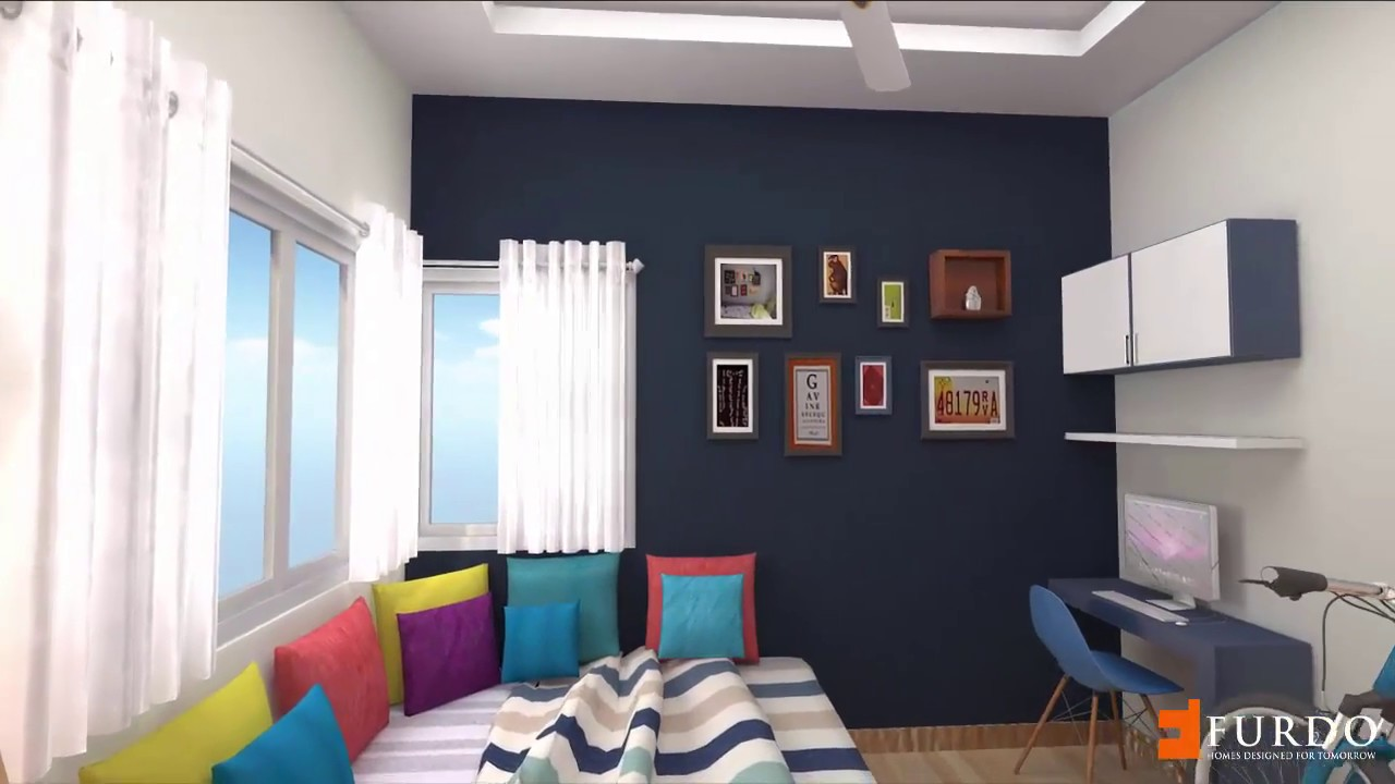 Vaswani Brentwood TypeC 3BHK : Furdo Interior Design 3D Walk Through |  Bangalore