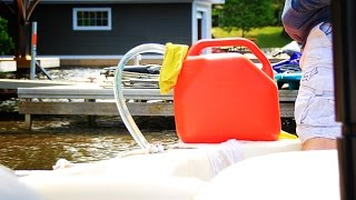 Filling Your Boat With A Jerry Can Gas Hack - Pure Muskoka