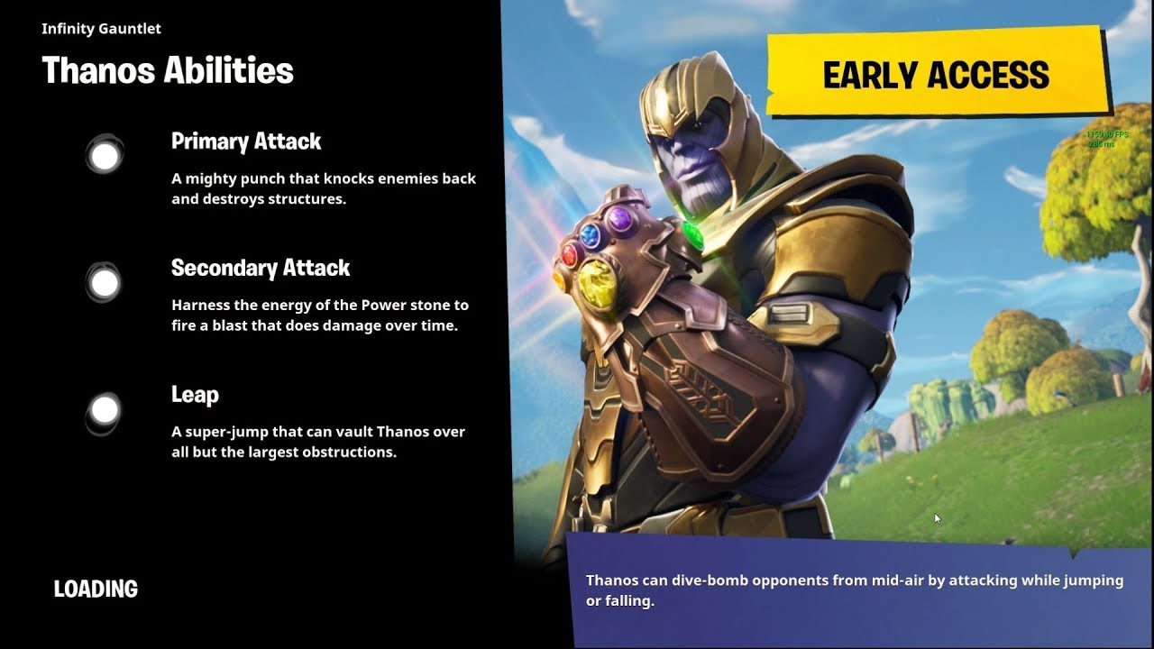 First Look Fortnite Limited Time Thanos Gamemode Youtube