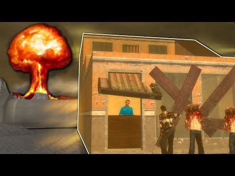 BUILDING AGAINST NUKE & ZOMBIES!? - Garry's Mod Gameplay - Gmod Zombie Base Building Roleplay