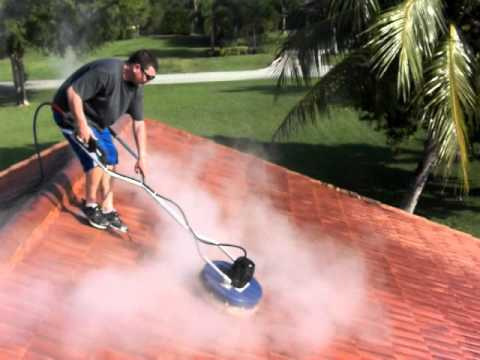 Insanely fast roof cleaning 30 hp 3 500 psi 9 gpm hot pressure washer dan swede 800 666 1992 - Using water pressure roof cleaning ...
