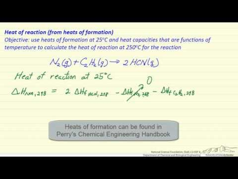Heat of Reaction (from Heat of Formation)
