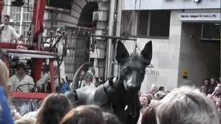 Giant Puppet Dog Xolo In Liverpool